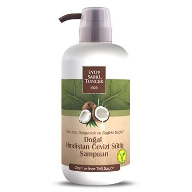 Eyüp sabri tuncer Eyüp Sabri Tuncer Şampuan Doğal Hindistan Cevizi İnce Telli Saçlar İçin 600 Ml Renksiz